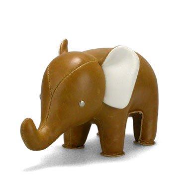 Züny - Elefant - Briefbeschwerer - Klein - braun/weiß - 250 Gramm