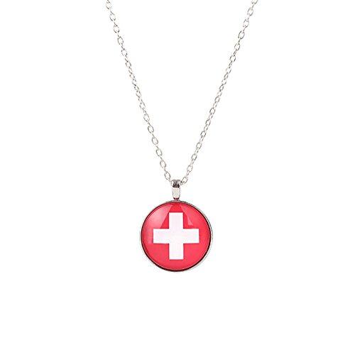 Sharplace 1 Stück Runde Form Anhänger Halskette Bekleidungs zubehör Lange Hals Reif - Mehrfarbig Schweiz