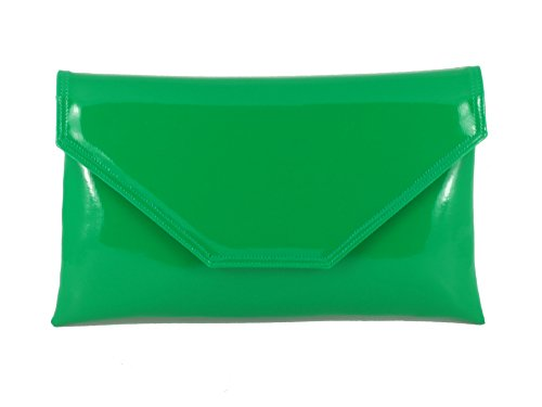 Loni Stylish Large Envelope Patent Clutch Bag Shoulder Bag Wedding Party  Prom Bag in Emerald Green - Buy Online in Oman.  30a170ed8255b