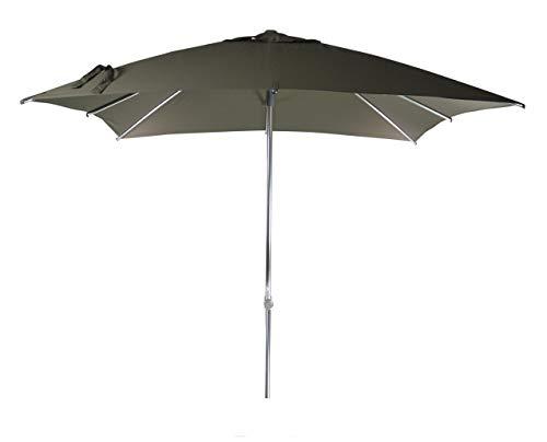 Parasol Jardin   Taupe / Marron / Gris   250 x 250 cm / 2.5 x 2.5m   Carré   SORARA   MILANO   Polyester 250 g/m² (UV 50+)