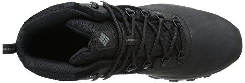 Columbia Mens Newton Ridge Plus II Waterproof Hiking Boot Black, Black