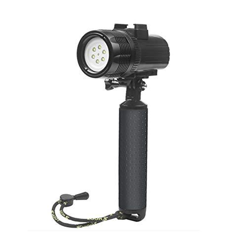 D & F Impermeabile Torcia Luce LED 1000LM Immersione 60m Video Fotografia Torcia lampada per GoPro Hero 6/5/4/HERO(2018), SJCAM , Xiaomi Yi Apeman Action Fotocamera sportiva