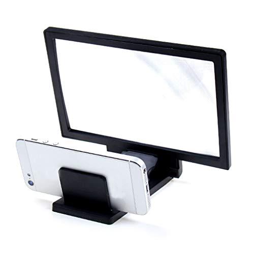 Hochwertige Lupe Komplette Seite Faltbare Lupen für Verstärker Video-Bildschirm Eholder 3 × freihändig stehend Großes quadratisches beleuchtetes Glas bruchsicheren klaren optischen Linsen für Senioren