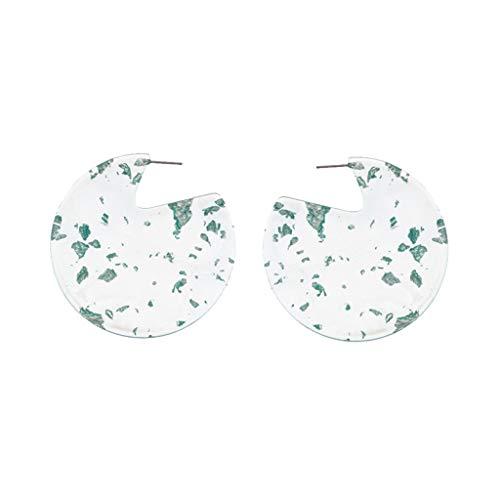 UINGKID Damen Ohrringe Mode Ohrstecker Persönlichkeit Kreative Acetat Platte Geometrie Halbring Schmuck