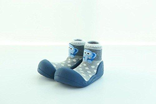 Attipas - Chaussures premiers pas - Zoo Marron - bleu
