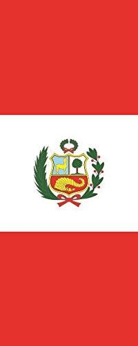 Haute Qualité pour U24 Drapeau du Pérou en format portrait 80 x 200 cm
