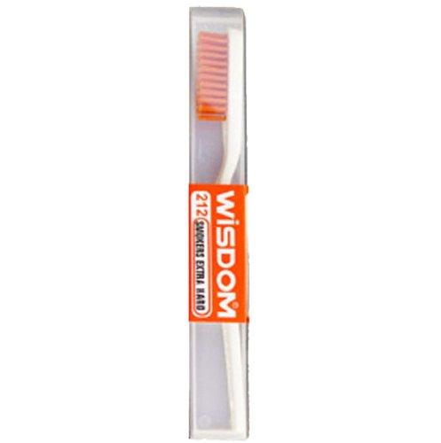 Wisdom 212 Zahnbürste für Raucher, extra harte Borsten, Rot