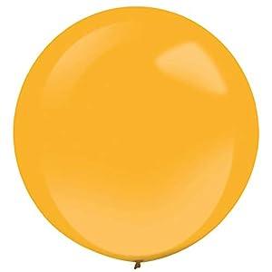 amscan 9905485 - Globos de látex (4 Unidades), Color Naranja