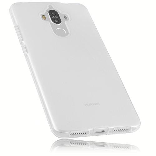 mumbi Schutzhülle für Huawei Mate 9 Hülle transparent Weiss
