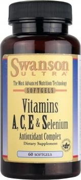 Swanson Ultra Vitamin A,C,& E + Selenium (60 Softgels) by Swanson Health Products