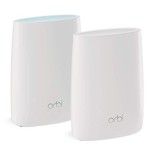 NETGEAR ORBI Système Wifi Mesh amplificateur ultra puissant RBK50 (1 routeur + 1 satellite extender) - Jusqu'à 350m² de couverture