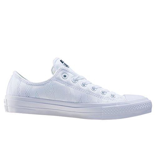 Converse Chuck Taylor All Star Ii, Baskets Basses Mixte Adulte, White Gum White Blanc