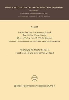 [(herstellung hochfester pellets in ungebranntem und gebranntem zustand)] [by (author) hermann rudolf schenck ] published on (january, 1970)