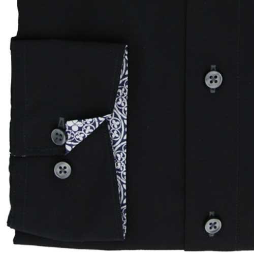 LERROS Herren Button-Down Lange Ärmel Formale Shirt Multicoloured - Schwarz (Black 200)