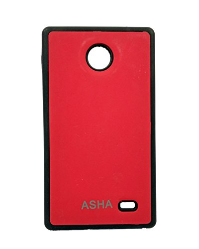 iCandy™ Premium Quality Black Boarder Leather Finish Soft Back Cover For Nokia X / X+ - Red  available at amazon for Rs.129