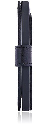 Bouletta Apple iPhone SE / 5S / 5 Leder-Hülle | Premium Handyhülle | Ledertasche | Handytasche | Schutzhülle | Book Cover | Case | Etui mit Kartenfach im Vintage / Retro Look (Schwarz) Schwarz