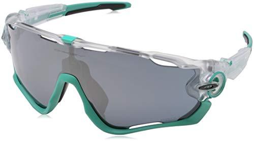 Oakley Herren Jawbreaker OO9290 Sonnenbrille, Weiß (Transparente/Mate/Verde), 0
