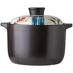 Casserole haute température Casserole en céramique Multifonctionnel,Poêle à gaz en céramique résistant à hautes températures de pot de soupe de casserole en céramique de casserole applicable-