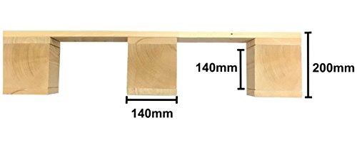 LIPA Palettenbett Bett Holz Massivholzbett – hergestellt in BRD - 3