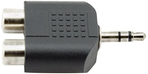 Akord spina stereo da 3,5mm maschio a 2rca femmina jack audio y splitter adattatore