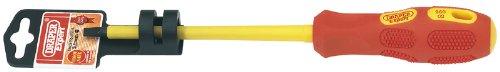 Preisvergleich Produktbild 5,5 X 125 mm Expert Vollisolierter Schlitz-Schraubendreher, Profi-Qualität, mit 10 kV getestet. Geeignet zum Arbeiten an Stromkreisen mit 1 kV (Wechselstrom) und 1.5kV DC. Chrom-vanadium-Stahl geschmiedet, vergütet und chemisch blacked. Voll isolierter, ergonomischer und weicher Griff mit tiefliegender Klinge für Sicherheit in einzelner Hängeverpackung mit barcode auf der Rückseite.
