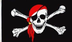 Pirat mit Bandana Kopftuch Fahne Flagge Grösse 1,50x2,50m XXL - FRIP –Versand® Kopftuch, Große