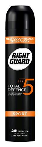 Right Guard Total Defence 5Sport Anti-Transpirant Deodorant Aerosol, 250ml