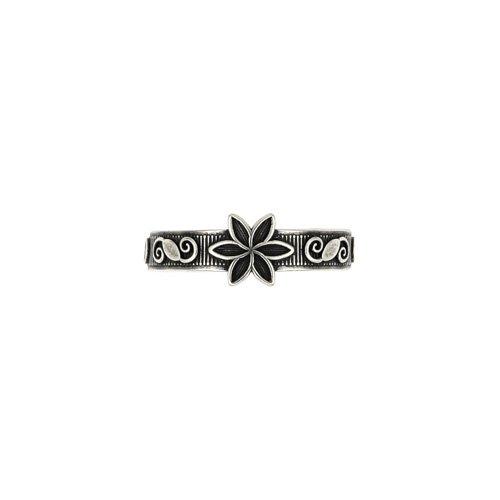 925 argento sterlina Fiore Swirl dell'anello della punta. Splendidamente presentato in un sacchetto di regalo di alta qualità e organza.