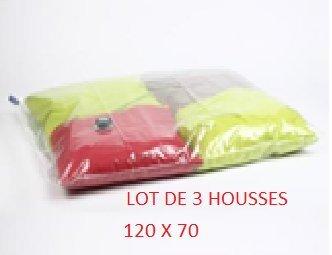 LOT DE 3 SACS COMPRESSEURS AIR PARFUMEE 120x70