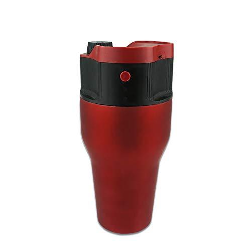 ZUZEN Elektrische Presso Kaffeemaschine Presse Kapsel Kaffeemaschine Auto Espresso Maschine Portable Outdoor Travel Kapsel Kaffee,Red - Kommerzielle Espresso-maschine