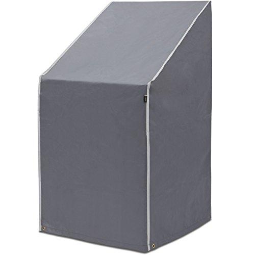 PUROVI® Housse Protectrice pour chaises empilables | Housse pour chaises de jardin | Tissu Oxford | Protection contre les intempéries | Imperméable | Protection UV