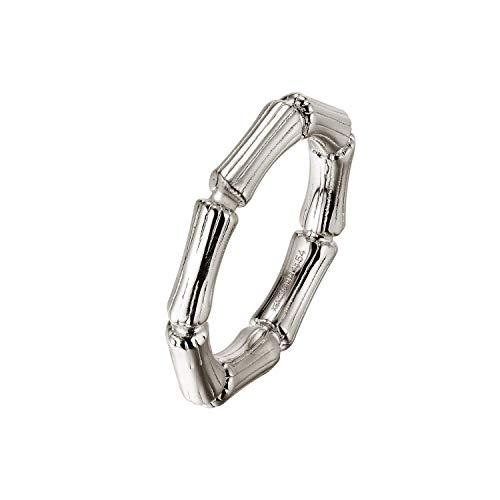 Xenox Damen-Ring BAMBOO aus 925er Sterlingsilber (silberfarben, 56 (17.8))