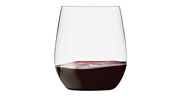 Munfix 48 Pack Plastic Stemless Wine Glasses Disposable 12 Oz Clear Plastic Wine Cups Shatterproof Recyclable and BPA Free