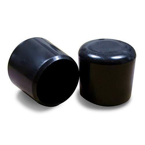 Contera pl/ástica redonda D: 8 mm ajile 12 piezas NEGRA EVR108-M protector de suelo para patas de sillas