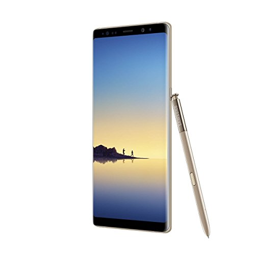"Samsung Galaxy Note 8, Smartphone libre (6.3"", 6GB RAM, 64GB, 12MP/Versión alemana: No incluye Samsung Pay ni acceso a promociones Samsung Members), color Oro"