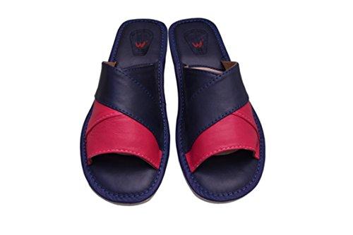 Natleat Slippers  16, Chaussons sandales fille femme Bleu Marine