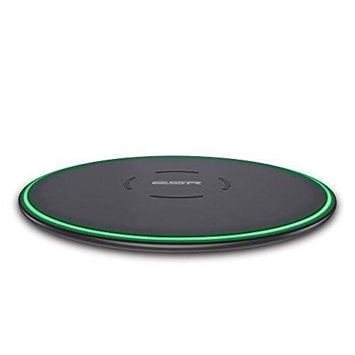 ESR Caricatore Wireless Qi 5W Ricarica Rapida per iPhone XS/XS Max/XR/X/8/8 Plus/Huawei P30 PRO, 10W per Samsung Galaxy S10/S10 Plus/S9/S9+/S8/S8+ (Adattatore AC Non Incluso).