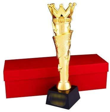 ATLT Trofei, medaglie Premi Resina Crystal Trophy Custom Company Incontro annuale Staff eccellente Trofeo Competizione Team Trophy,Oro + Nero,29 * 8cm