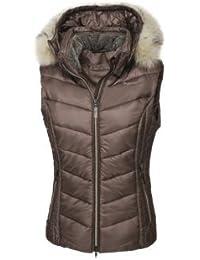 Pikeur–Chaleco para mujer con capucha desmontable brinette, unisex, gris oscuro