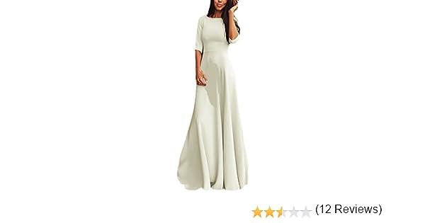 Abiti 34 Eleganti.Vestiti Donna Estivi Eleganti Abito Di Sera Manica A 3 4 Girocollo