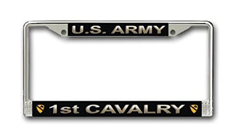 US Army 1st Cavalry Division License Plate Frame by Army License Plate Frames