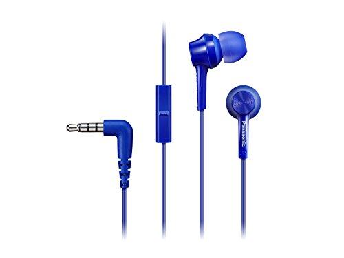 Panasonic RP-TCM105E-A In Ear Kopfhörer (Mikrofon und Controller mit 1 Tasten-Bedienung, 3 Paar wechselbare Pass-Stücke, Übertragungsbereich 10-24.000 Hz, 1,2 m Kabel) blau Panasonic System Controller