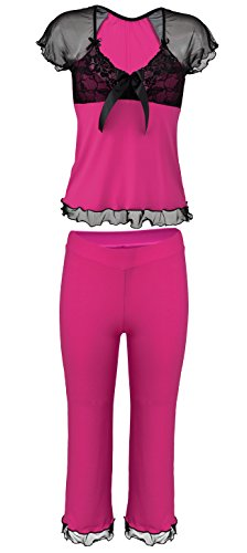 Lady-Mode Wäsche Set aus Viskose Sabi (XS - 2XL) Pink