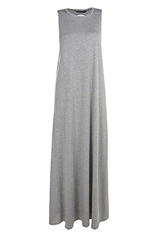 Grey Womens Lola Twist Back Detail Maxi Dress - 12