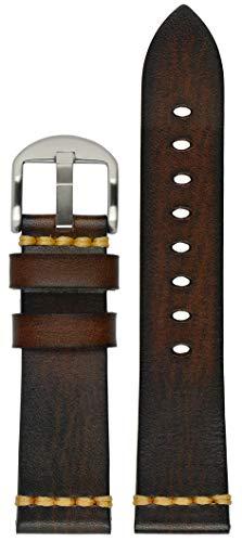 Astroavia Herren Uhrenarmband mit Edelstahl Dornschließe, Stegbreite 22mm, L9