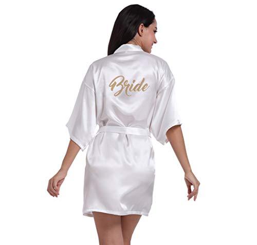 Hammia wedding robe satin accappatoio camicia da notte per le donne kimono sleepwear donne corto abito da sposa kimono damigella d'onore per matrimonio