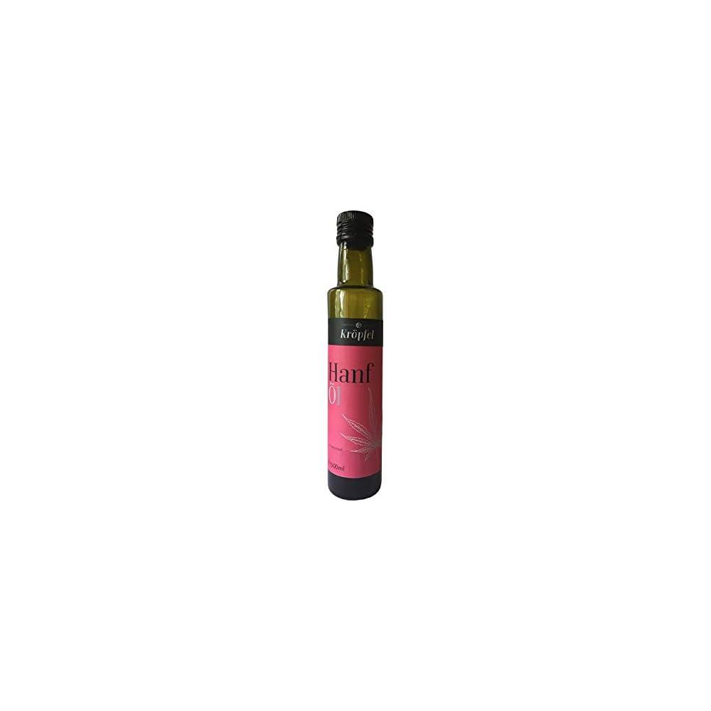 Krpfel Hanfl Kaltgepresst 100 Rein Glasflasche 500ml A Qualitt Aus Sterreich