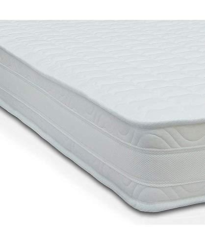 Art materasso h10, con airpur® monoblocco, water foam ortopedico in poliuretano, con tessuto anti acaro di alta qualità, singolo 95x190