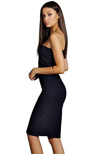 Damen Indigo Tall Scarlett Bodycon-midikleid Aus Denim Mit Bandeau Indigo
