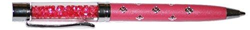 Qualitäts-Kugelschreiber mit Swarovski-Kristallen. FREIE NACHFÜLLUNG (ROSA)
